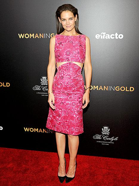Katie Holmes Stuns in a Sexy Cutout Dress on the Red Carpet: See the Photos!