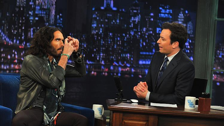 "Russell Brand Visits ""Late Night With Jimmy Fallon"""