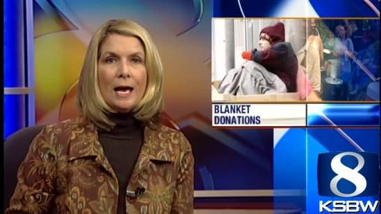 Blankets donated in bundles to Salinas homeless shelter