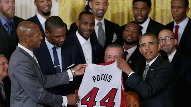 Obama honors Miami Heat for 2nd straight NBA title