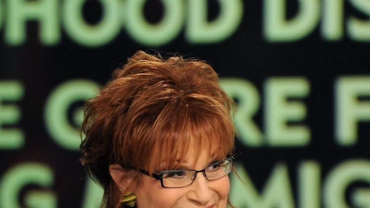 "This March 11, 2013 photo released by ABC shows host Joy Behar on ""The View."" Behar's last day on the popular daytime talk show will be Aug. 9. (AP Photo/ABC, Donna Svennevik)"