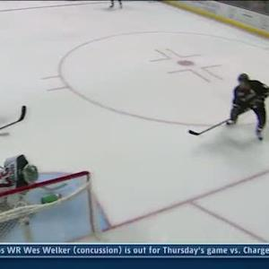 Josh Harding steals Selanne's shot with glove