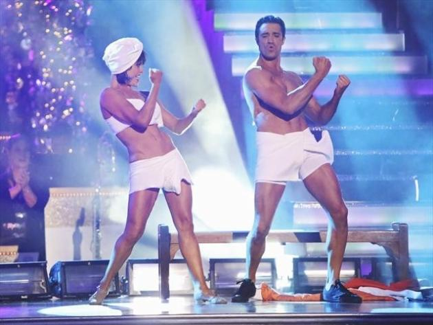 Peta Murgatroyd and Gilles Marini perform during Week 5 of 'Dancing with the Stars: All-Stars,' Oct. 22, 2012 -- ABC