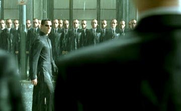 Keanu Reeves and Hugo Weaving in Warner Brothers' The Matrix: Revolutions