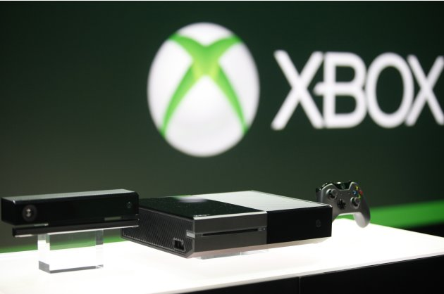 Xbox One with the Kinect motions sensor and the controller is pictured during a press event unveiling Microsoft's new Xbox in Redmond