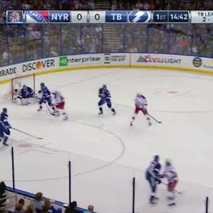 Ben Bishop Save on Carl Hagelin (05:20/1st)