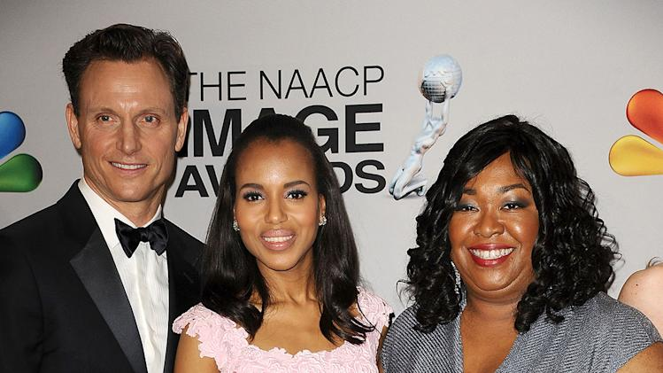 Tony Goldwyn, Kerry Washington and Shonda Rhimes