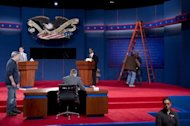<p>Students participate in a rehearsal for the first presidential debate to be held at Magness Arena at the University of Denver. With President Barack Obama and Republican nominee Mitt Romney laying low ahead of the showdown, their running mates battled for the spotlight, and Republicans suggested Biden's gaffe marked a stunning admission five weeks away from the November 6 election.</p>