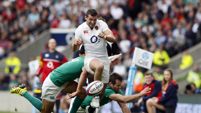 Jonny May of England in action