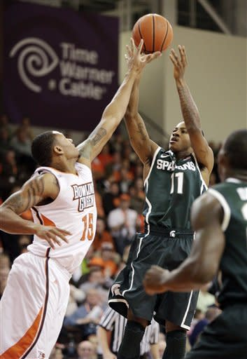No. 20 Michigan State tops Bowling Green 64-53