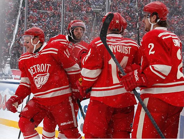 Detroit Red Wings Winter Classic Practice