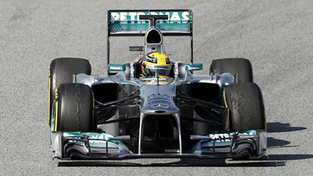 Lewis Hamilton of Mercedes after testing (Reuters)