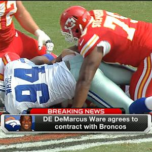 With defensive lineman DeMarcus Ware, are the Denver Broncos Super Bowl favorites?