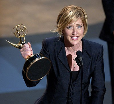 "Edie Falco wins Best Actress in a Drama for ""The Sopranos"" 53rd Annual Emmy Awards - 11/4/2001"
