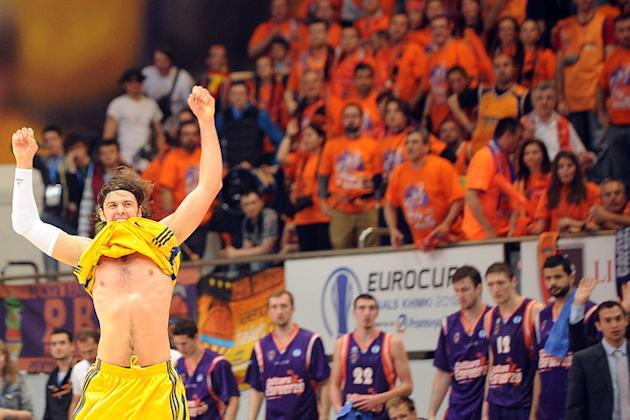 BC Khimki 's Kresimir Loncar Celebrates AFP/Getty Images
