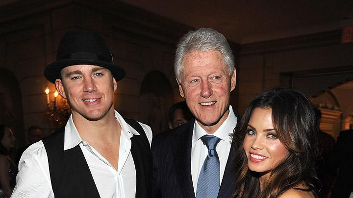 Channing Tatum, Bill Clinton, Jenna Dewan