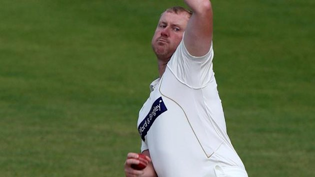 Yorkshire's Anthony McGrath bowls against Hampshire,