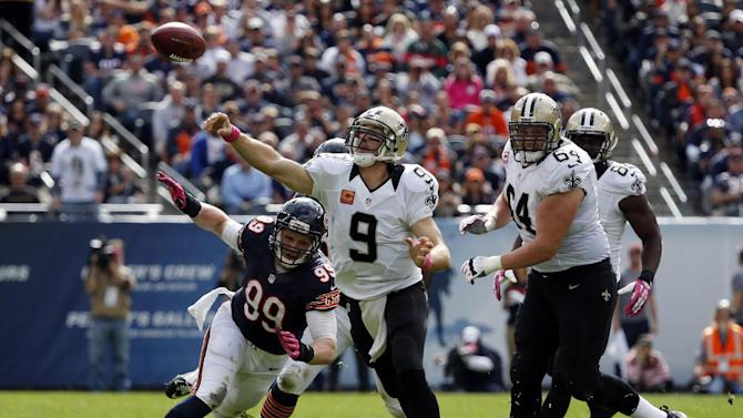 Brees leads Saints past Bears 26-18