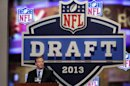 NFL commissioner Roger Goodell opens the second round of the NFL Draft, Friday, April 26, 2013 at Radio City Music Hall in New York. (AP Photo/Mary Altaffer)