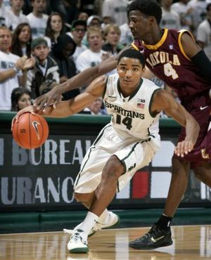 Harris, No. 19 Michigan St beat Loyola of Chicago