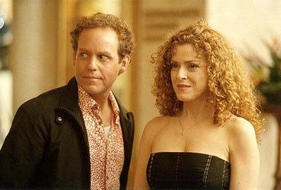 "When Cage (Peter MacNicol, L) and Fish (Greg Germann) go to Los Angeles for some fun in the sun, Cage befriends Cassandra (guest star Bernadette Peters, R), a woman with legal problems on ""The Getaway"