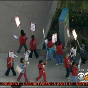 Nurses Expected To Strike For Second Day Outside Hospitals In LA