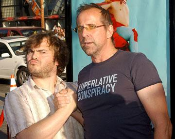Jack Black and Peter Stormare at the Hollywood premiere of Paramount Pictures' Nacho Libre