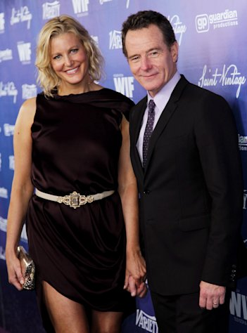 Bryan Cranston, right, and Anna Gunn pose together at the Variety and Women in Film Pre-Emmy Event at Scarpetta on Friday, Sept. 21, 2012, in Beverly Hills, Calif. (Photo by Matt Sayles/Invision/AP)