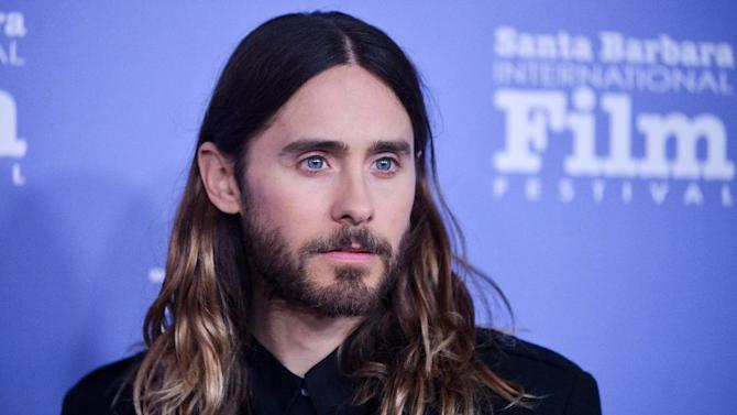 CORRECTS TOWN WHERE CEREMONY WAS HELD - Jared Leto arrives at 2014 Santa Barbara International Film Festival - Virtuosos Award ceremony on Tuesday, Feb, 4, 2014 in Santa Barbara. (Photo by Richard Shotwell/Invision/AP)