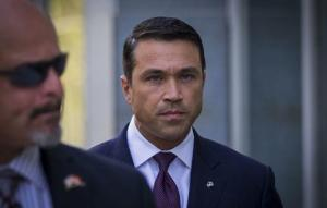 U.S. Representative Michael Grimm arrives at the Brooklyn Federal Courthouse in the Brooklyn Borough of New York