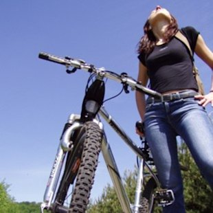 A cheap mountain bike is a great way to get outdoor exercise.