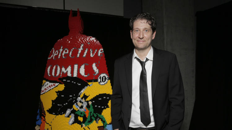"IMAGE DISTRIBUTED FOR WARNER BROTHERS - Artist Nathan Sawaya attends Warner Bros. Interactive Entertainment's 'Cape/Cowl/Create' event in downtown San Diego - a celebration of the iconic character's 75th anniversary and the upcoming release of ""Batman: Arkham Knight""., during Comic-Con International 2014 at Hard Rock Hotel San Diego on July 24, 2014 in San Diego, California. (Photo by Todd Williamson/Invision for Warner Brothers/AP Images)"