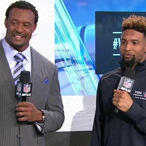 New York Giants wide receiver Odell Beckham Jr. talks about breaking a world record