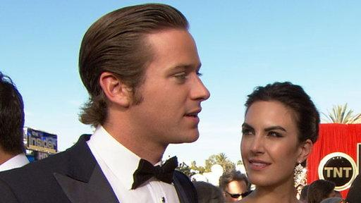 2012 Screen Actors Guild Awards Red Carpet: Armie Hammer Explains His Good Looking Mug Shot