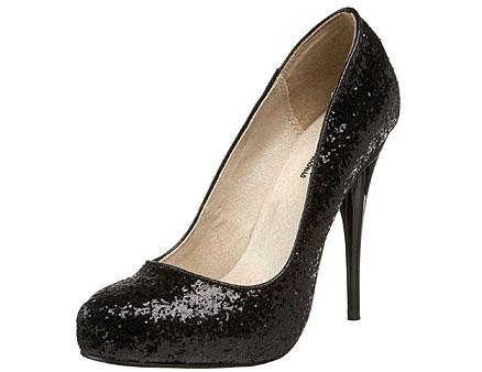 Black Glitter Stilettos