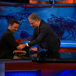Jon Stewart Gives Mets Pitcher, Matt Harvey, the Royal Treatment