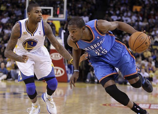 Thunder top Warriors 120-109 to start road trip