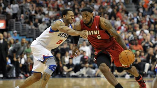 Heat survive scare and beat 76ers 84-78