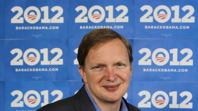 FILE - In this Dec. 28, 2011 file photo shows Obama 2012 campaign manager Jim Messina at the Chicago headquarters. Obama veterans are building a wide network of deep-pocketed groups and consulting firms independent of government, the Democratic Party and traditional liberal groups, a sweeping _ if not unprecedented _ effort outside the White House gates aimed at promoting the president's agenda and shaping his legacy. (AP Photo/Charles Rex Arbogast, File)