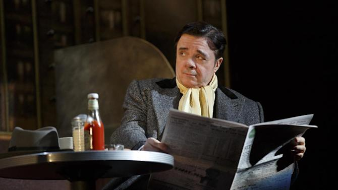 """This theater publicity image released by Lincoln Center Theater shows Nathan Lane in """"The Nance,"""" performing at the Lyceum Theatre in New York. Lane injured his leg during a performance of """"The Nance"""" and had to pull out of the show, leaving it unclear if he will make it onstage for Thursday's show. According to a spokeswoman for the play, Lane hurt himself Wednesday night and was unable to finish the show. His understudy went on instead. (AP Photo/Lincoln Center Theater, Joan Marcus)"""