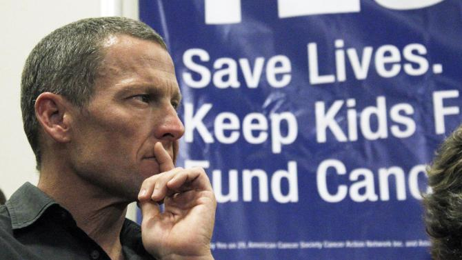 FILE - In this Friday, May 11, 2012 file photo, Cycling legend and cancer survivor Lance Armstrong attends a rally at a news conference at Children's Hospital in Los Angeles in favor of Proposition 29, a measure on the June 2012 California primary election ballot that would add a $1-per-pack tax on cigarettes. The money raised would go to cancer research projects, smoking-reduction programs and tobacco law enforcement. Fabled as a mecca for the health-conscious and fitness-obsessed, California is also one of only a few states that has not hiked its cigarette taxes in the last decade, meaning it is less expensive to light up in Los Angeles and San Francisco than many other places in the country. The tobacco industry wants to keep it that way. It has amassed nearly $50 million to kill an initiative on Tuesday's primary ballot that is championed by cycling star Lance Armstrong and supported by New York Mayor Michael Bloomberg, who has donated $500,000 to its campaign. (AP Photo/Reed Saxon)
