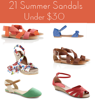 Sizzling summer sandals under $30