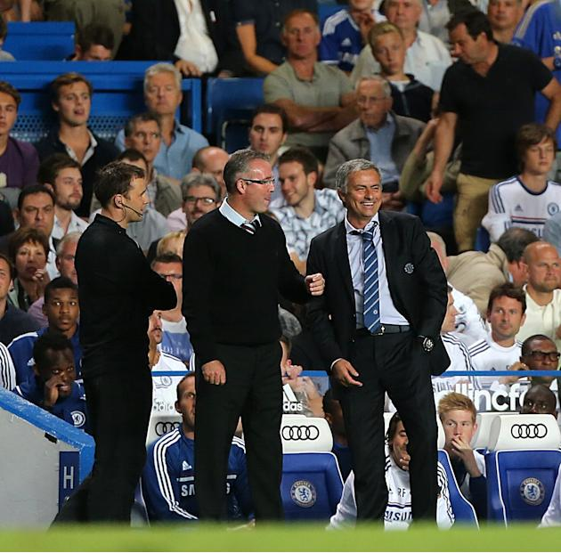 Soccer - Jose Mourinho and Paul Lambert