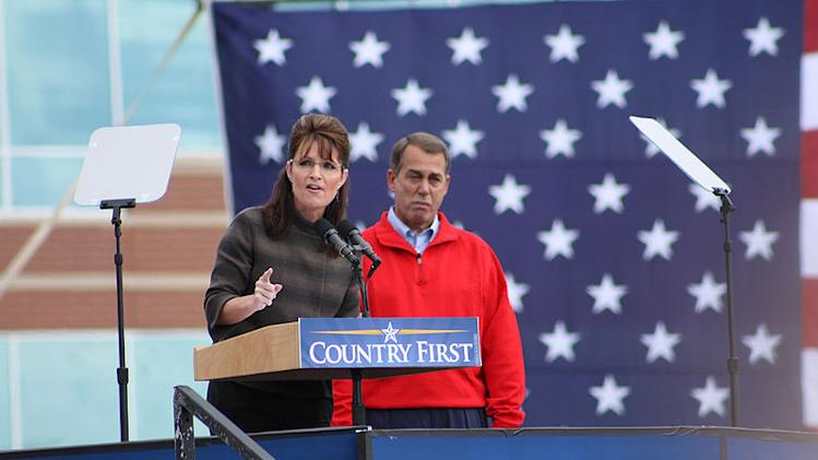 Sarah Palin and John Boehner