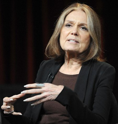 FILE - In this Jan. 15, 2011 photo, Gloria Steinem attends the PBS Winter TCA Tour at the Langham Huntington Hotel in Pasadena, Calif. &quot;Makers: Women Who Make America,&quot; a three-hour PBS documentary about the fight for women&#39;s equality, airs Tuesday and features prominent activists including Gloria Steinem and Marlo Thomas. (Photo by Richard Shotwell/Invision/AP, File)