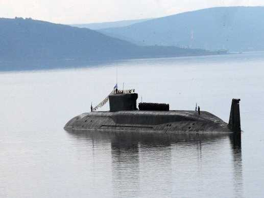 A Russian submarine may have nearly capsized a fishing boat in the Irish Sea
