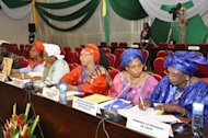 <p>A delegation of Malian women's associations at talks in Ouagadougou. West African presidents met Saturday with civil leaders from Mali in a bid to secure a national unity government to tackle a crisis in the north where Islamists have enforced Sharia law.</p>