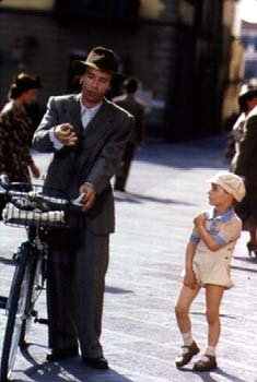 Academy Award winner Roberto Benigni and Giorgio Cantarini in Life Is Beautiful