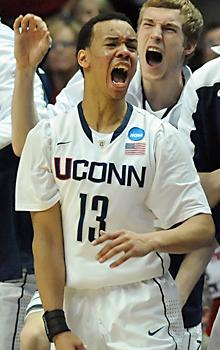 Team effort puts UConn in title game