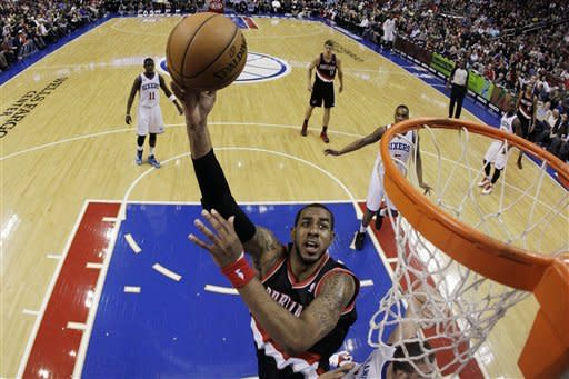 76ers rally late to top Portland 101-100